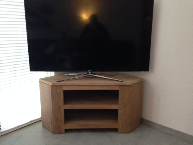 Eiken Tv Meubel Hoek.Hoek Tv Meubel Teak Breda Rustic Teak Interiors Satisfied