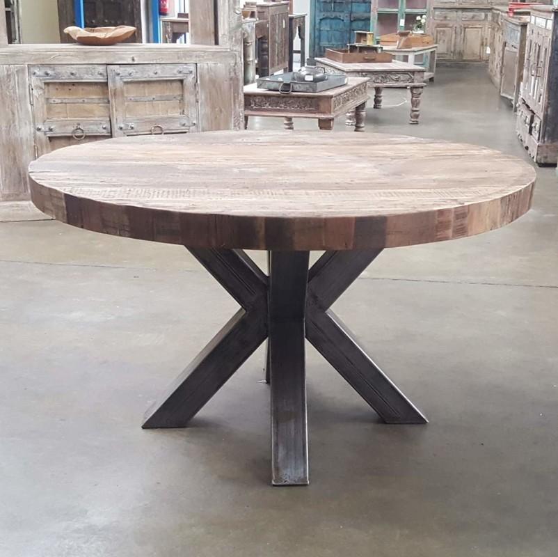 Wonderlijk Industrieel ronde tafel - Te koop tafels in eiken & teak en UF-25